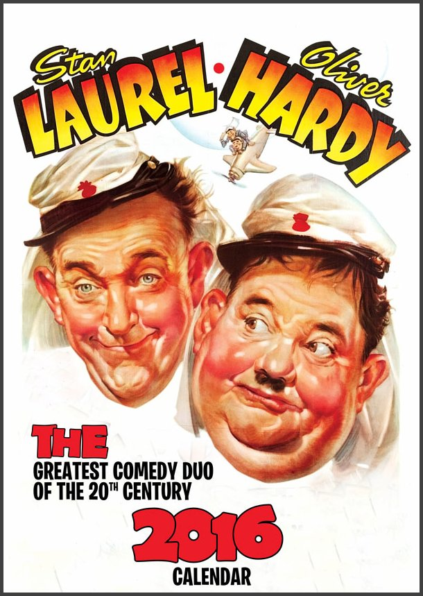 Laurel and Hardy 2016 Calendar