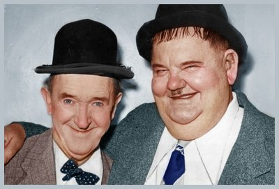 Laurel and Hardy colour magnet