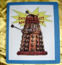 Doctor who and the daleks mousemat