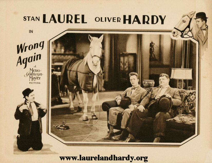 Laurel and Hardy Blue Boy Horse wrong again