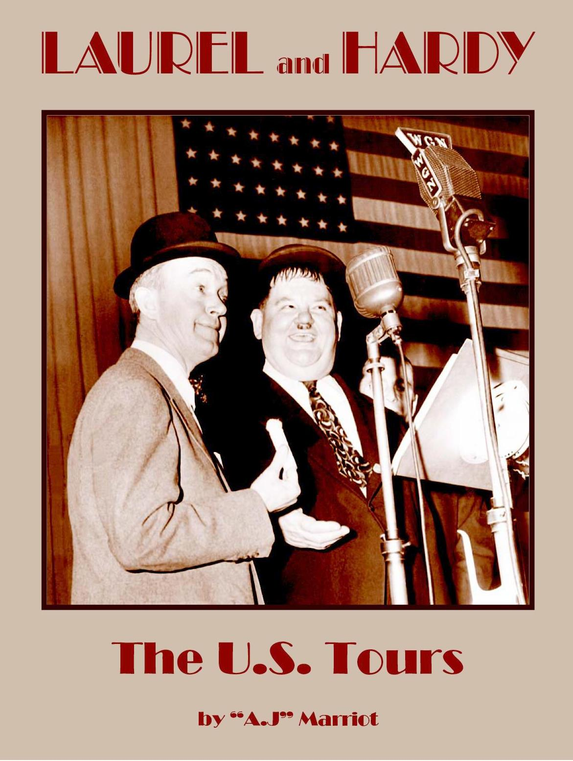 AJ Marriot signs Laurel and Hardy the US TOURS books