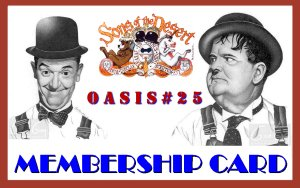 Laurel and Hardy Membership card