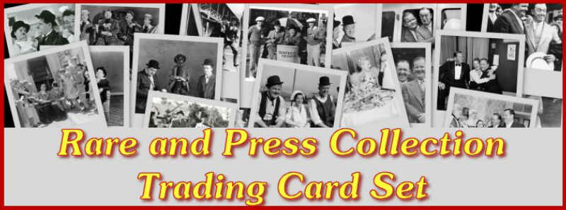 Laurel and Hardy Rare and Press trading cards