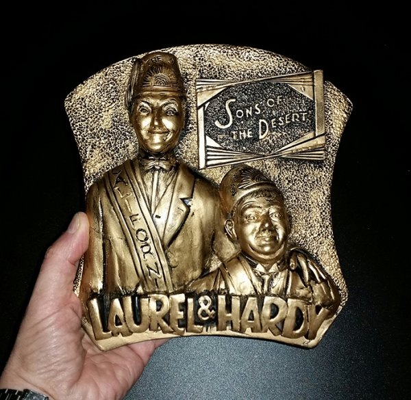 Laurel and Hardy Sons of the desert plaque