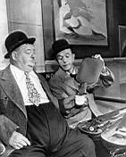 A SPOT OF TROUBLE Laurel and hardy on the station