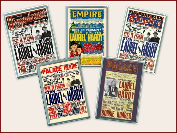 Laurel and Hardy BOX OFFICE BRITISH TOURS CARDS