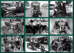 Laurel and Hardy model T fords