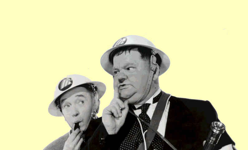 Laurel and Hardy Air Raid Wardens