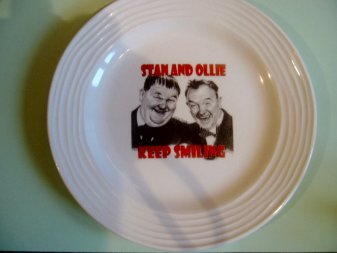 laurel and hardy Plate
