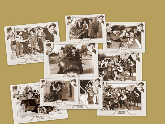 BIG BUSINESS Laurel and Hardy 8 X 6 PHOTOS