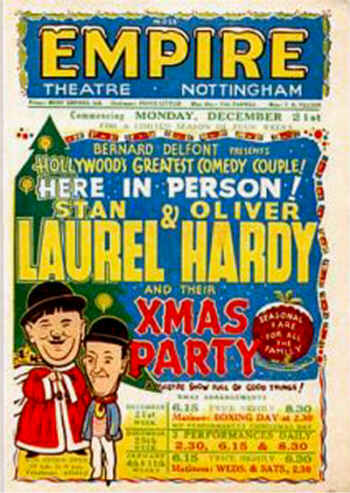 Laurel and Hardy at the Empire Nottingham
