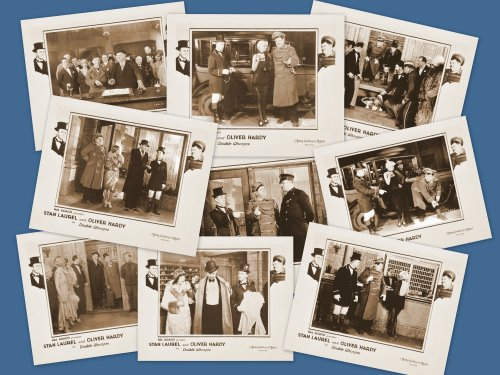 Laurel and hardy mini cards